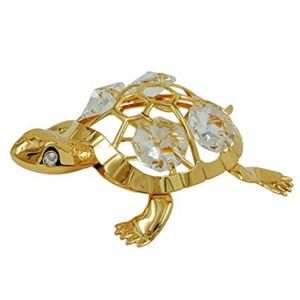 Crystal Temptations Gold Swarovksi Turtle Ornament